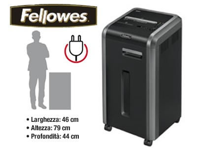 Distruggidocumenti a frammenti Fellowes EF-225Mi