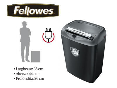 Distruggidocumenti a frammenti Fellowes B-72CT